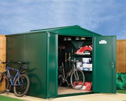 Asgard Gladiator large metal shed 7x7 from Gardien | garden security