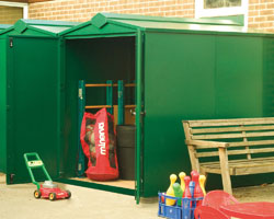 Asgard Centurion large metal shed 5x7 from Gardien | garden security