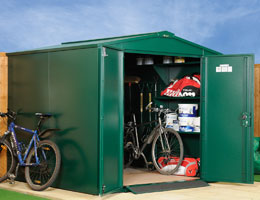 Asgard Gladiator large metal garden shed 7x7 from Gardien | garden security