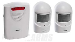 Wireless garden burglar alarm with 2 weatherproof sensors