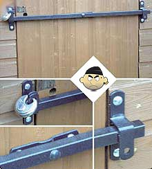 Shed Bar: secure your shed door today