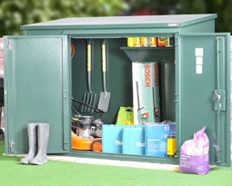 Asgard Annexe metal garden shed 6x3 from Gardien | garden security