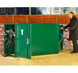 Asgard Double End Bike Locker: 2 Bikes from Gardien | garden security