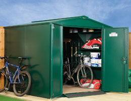 Asgard Centurion metal bike shed 5x7 from Gardien | garden security