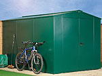 Asgard Gladiator Plus 1 metal shed 7x11 from Gardien | garden security