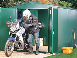 Motorbike Storage Garage from Gardien | garden security