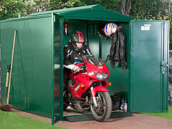 Metal Motorbike Shed Plus from Gardien | garden security
