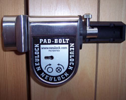 neulock secure pad bolt